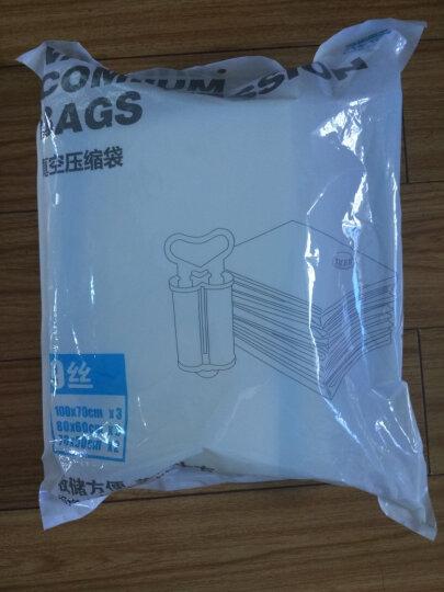 佳佰 压缩袋 密封真空防尘衣物被子收纳袋 9丝加厚8只装(4中4小)内含双管气泵 晒单图