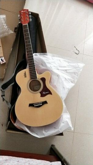 卢森(Rosen) 卢森Rosen吉他民谣木吉它40寸41寸初学者乐器guitar R-125黑色 40寸 晒单图