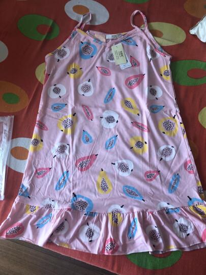 2018新款纯棉吊带裙夏季韩版中长款女睡裙清新公主学生甜美外穿睡衣 Z1036-pink灰色 XXL(175cm) 晒单图