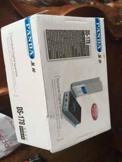 熊猫(PANDA)DS-178 插卡收音机 数码小音响 数字点歌 歌词同步显示(黑色) 晒单图