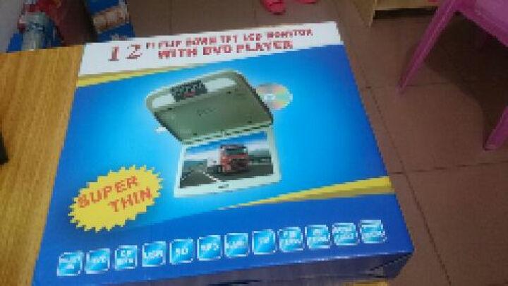 季风岛 通用车载10-12英寸高清吸顶显示器 汽车电视液晶显示屏DVD/MP5功能可选 12英寸黑色MP5 晒单图