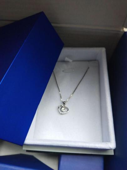 恒久之星珠宝 18K金/铂金钻石吊坠女款白金项链吊坠 求婚结婚订婚钻石项链心形 (现货)18K金33分SI/H色 晒单图