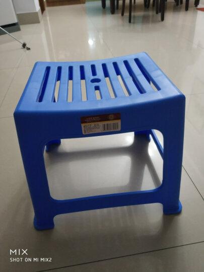 唐宗 塑料凳子加厚型简约浴室防滑凳家用椅子小凳子茶几换鞋凳茶几小板凳 蓝色 晒单图