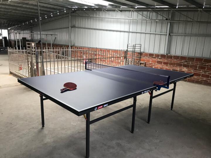 【赞商品】红双喜(DHS) T2023乒乓球台 可折叠 室内比赛型乒乓球桌 内附乒乓拍+乒乓球+网架 晒单图