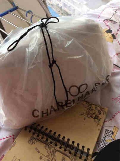 香奈哈泼 女士包包2018新品单肩斜挎包饺子款小拎包女包 粉色配杏色 小拎包 晒单图