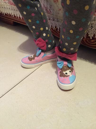 女童帆布鞋春秋季儿童鞋子女孩布鞋公主鞋一脚蹬休闲鞋小学生板鞋2018 粉红色 28码/内长18cm 晒单图