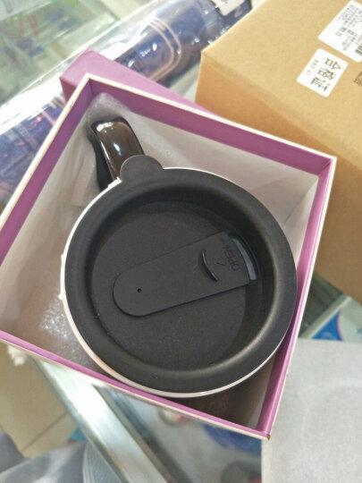 爱屋格林 手绘陶瓷马克杯 情侣艺术咖啡杯 带盖杯子 水杯 500ML 礼盒装蓝色 3LTM5108L 晒单图
