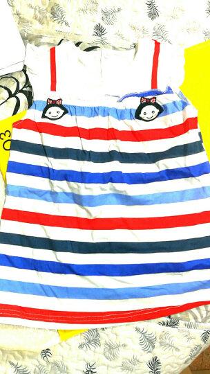 纤丝鸟(TINSINO) 纤丝鸟童装儿童纯棉连衣裙宝宝夏装婴儿衣服女童新款短袖裙子 美丽小花边-墨兰 120 晒单图