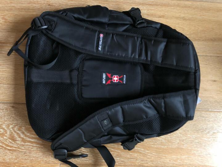 瑞士电脑包双肩包15英寸笔记本商务时尚书包男女旅行背包LOGO定制 黑色 15.6寸 晒单图