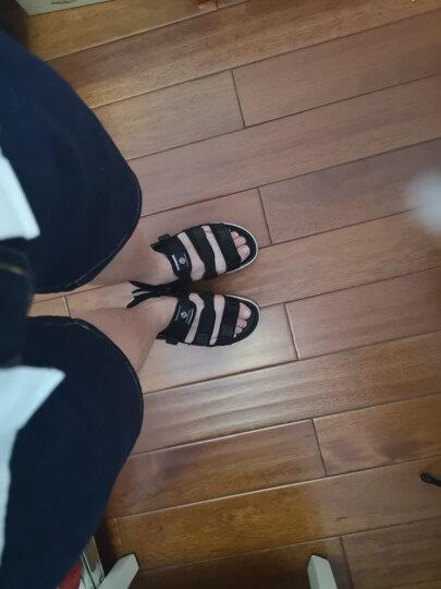 韩国纸飞机paperplanes男女休闲凉鞋夏季魔术贴情侣沙滩鞋学生三个带子热卖拖鞋PP1432 黑色 A6(41) 晒单图