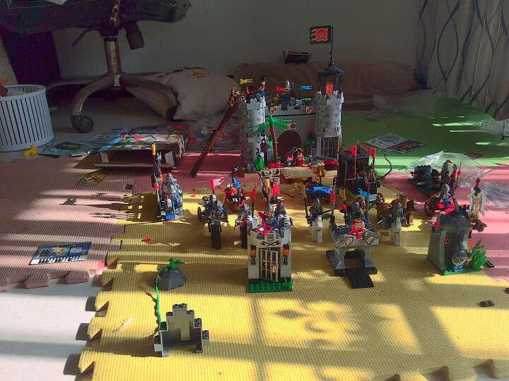 v积木积木系列城堡骑士拼装军事玩具益智拼插儿小猪佩奇的塑料积木动画片图片