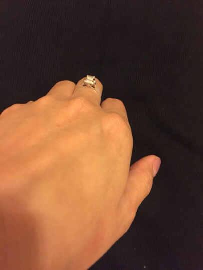 鑫万福 【真钻附证书】白18K金钻石公主方群镶款钻石结婚女戒钻石克拉钻戒送女友送老婆生日纪念日示爱 现货-白18K金48分H色(29+19) 晒单图