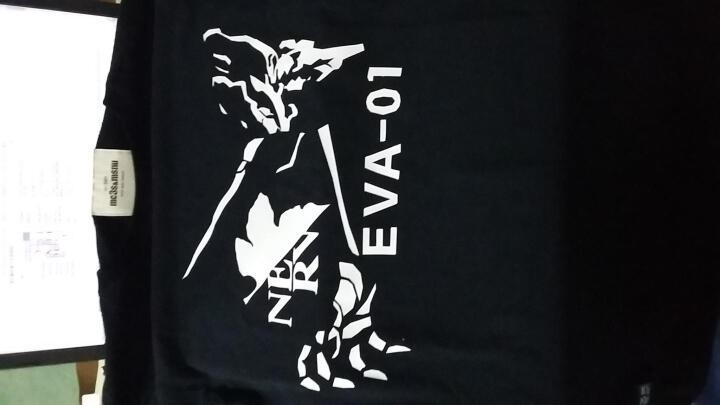 木村三社 EVA新世纪福音战士T恤初号机动漫周边男士短袖周边衣服 黑色/02叶子 L (170-185) 晒单图