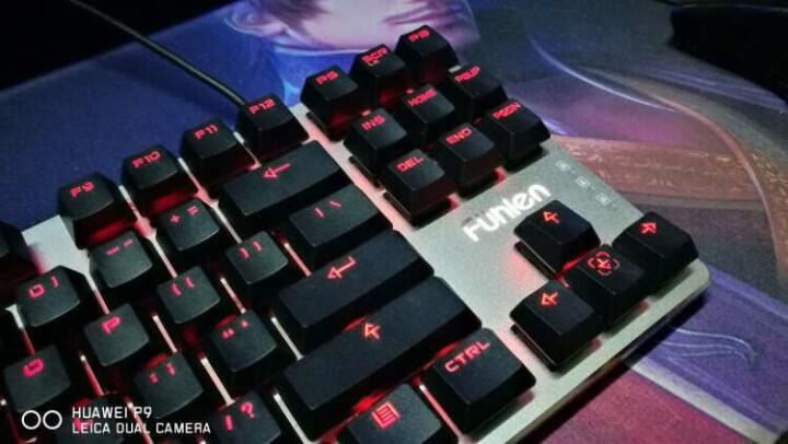 富勒(Fühlen)第九系 G87 黑轴 87键 红色背光 樱桃键盘 樱桃轴机械键盘 Cherry轴 绝地求生吃鸡键盘 晒单图