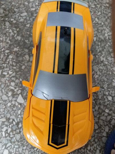 德馨1:12大尺寸儿童遥控车一键变形机器人玩具车充电模型汽车人 男孩赛车生日礼物节日礼物 二代1比12经典黄蜂 晒单图