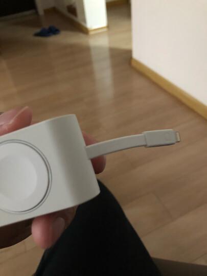绿联 MFi认证 苹果手表无线磁力充电宝 iwatch3/2/1移动电源4400毫安iPhoneX/8/7USB数据线充电器底座40438白 晒单图