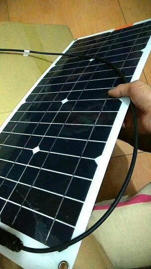 汉恩 车载太阳能电池板25w半柔性便携式12V蓄电池充电充电器车载改装可弯曲光伏发电板 晒单图