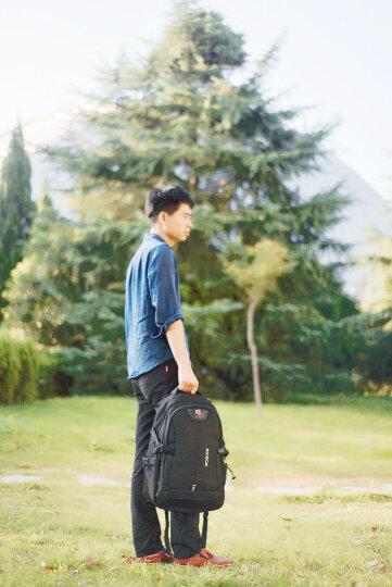 瑞士瑞戈男士背包商务休闲双肩包学生书包大容量旅行包通勤电脑包15.6/17英寸 8112款黑色|加大版3层|17英寸 晒单图