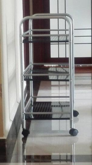 溢彩年华 厨房置物架 可移动落地置物架客厅收纳架 60*30*100cm四层手推餐车DKI7723 晒单图