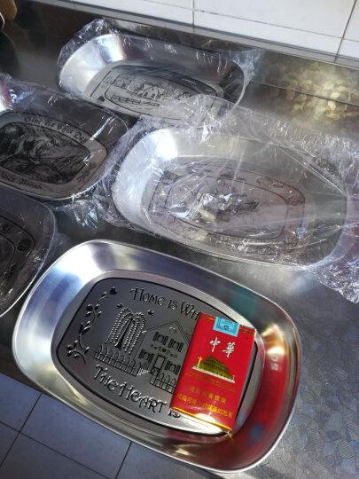 瓷彩美(CECEME)创意欧式果盘 马口铁不锈钢盘子现代客厅餐具零食托盘小吃干果收纳 果蔬款 盘子 晒单图