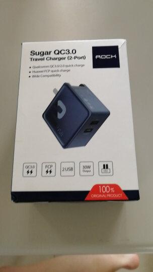 洛克(ROCK)华为充电器 QC3.0快充充电头 双口USB折叠 P10P9mate9荣耀V8nova2s3e小米8/6/mix2s苹果插头 蓝 晒单图