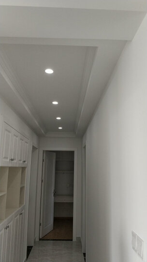 雷士(NVC) 雷士照明射灯 3/5瓦led天花灯 嵌入式牛眼灯全套 装饰灯 5W 砂银  (开孔尺寸8.5-9.5厘米) 暖白光 4000K 晒单图