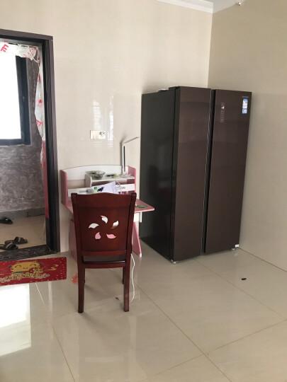 美的(Midea)【冰洗套购减500元现金】615升冰箱 对开门家用凡帝罗风冷无霜智能变频电冰箱 BCD-615WKGPZV 格调咖 晒单图