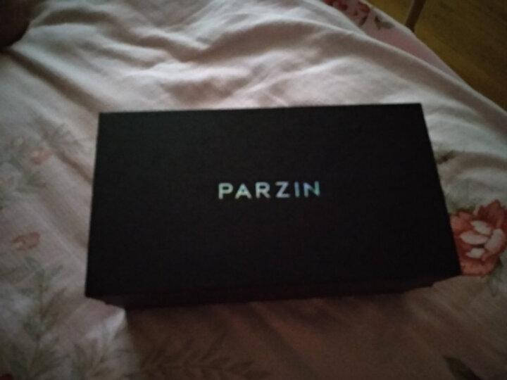帕森(PARZIN)太阳镜女款墨镜 复古大框时尚偏光太阳眼镜6216 亮黑色 晒单图