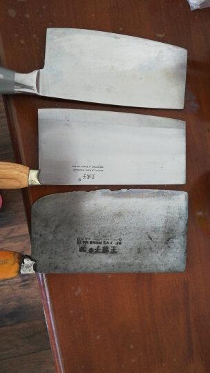 王麻子 4#碳钢菜刀 厨师斩切刀DA14-1 晒单图