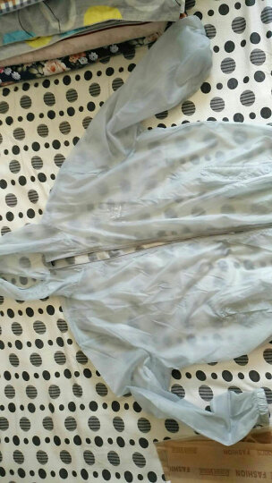 PMMP夏季防晒衣加肥加大码防晒服男士轻薄户外皮肤衣外套胖子风衣 浅灰FS01 6XL 晒单图