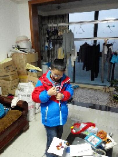 南极人(Nanjiren) 儿童户外运动冲锋衣 秋冬男童女童双层防风衣三合一两件套 玫红 150cm 晒单图
