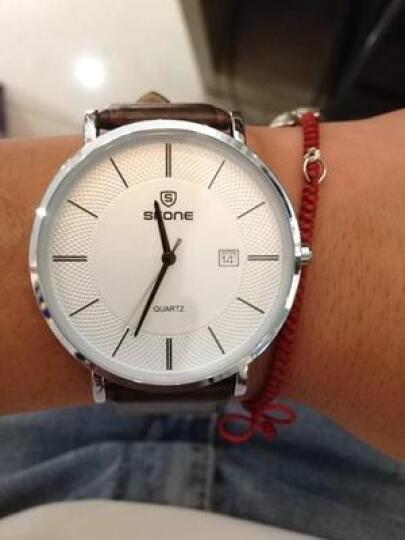 时空(SKONE)情侣手表对表国产钟表石英表皮带情侣表一对男女款学生时尚防水腕表9307 玫金壳白面栗色带一对 晒单图