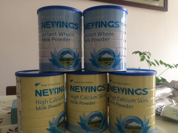 纽韵(newings) 高钙高蛋白即溶全脂成人奶粉 女士儿童学粉生青少年 无蔗糖800g 晒单图