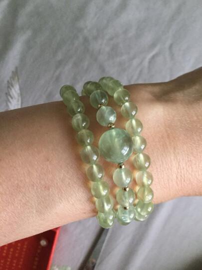 绿侬 葡萄石散珠子 水晶圆珠DIY手链手串项链饰品配珠 微透体10mm/颗 晒单图