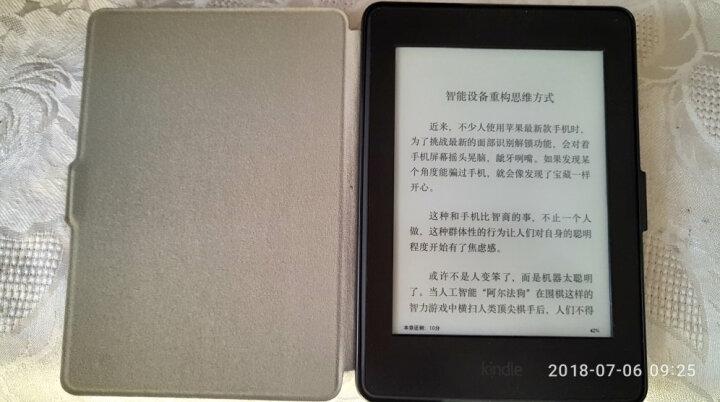 柏图 适配Kindle 958版保护套/壳 Kindle Paperwhite 1/2/3代 电纸书休眠皮套 折叠支架系列 睿智黑 晒单图