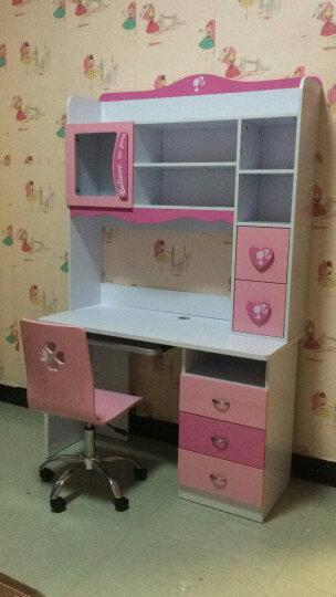卡奴米 简约现代转角电脑桌儿童公主女孩书桌书架组合多功能学生直角书台810# 直角书桌 晒单图