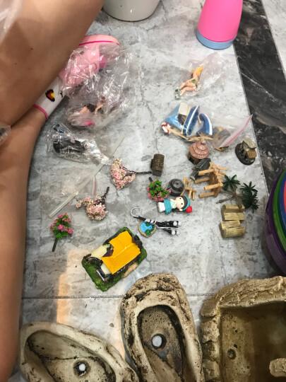 微景观园艺多肉植物花盆迷你摆件  DIY装饰生日蛋糕仿真动物人物卡通创意花园 花盆迷你工艺品 毛毛虫 / 单个装 晒单图