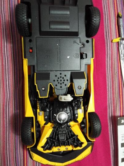 变形金刚玩具6 新奇达擎天柱大黄蜂可声控感应遥控变形汽车人模型男孩玩具 一键变形大黄蜂-终身维修 晒单图