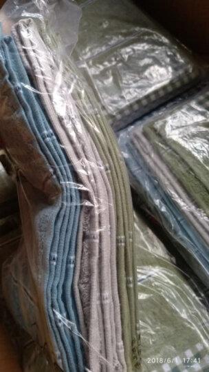 亚光 毛巾 纯棉素色吸水毛巾 全棉家用擦脸巾 洁面巾 凌云 8条装 蓝/驼 32*74cm/条 晒单图