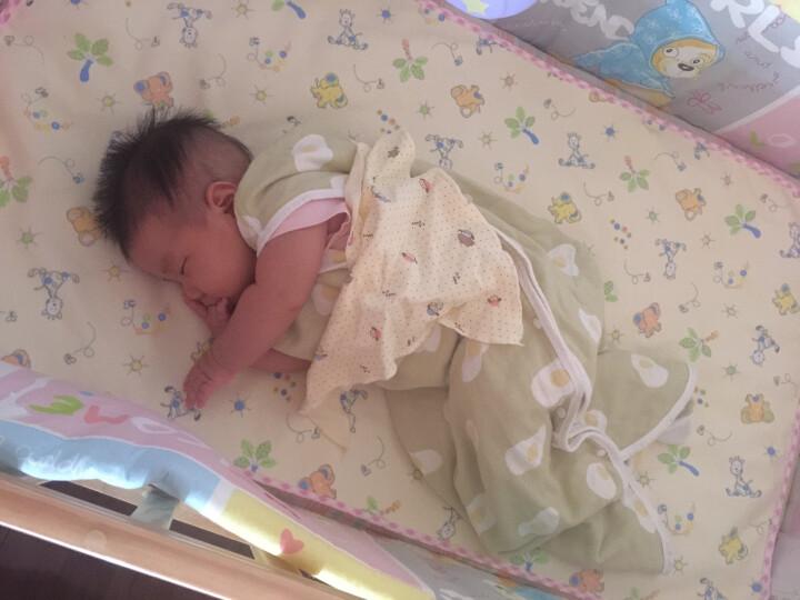 象宝宝(elepbaby)婴儿睡袋 夏季薄款新生儿宝宝纱布背心睡袋 80X45CM绿色 晒单图