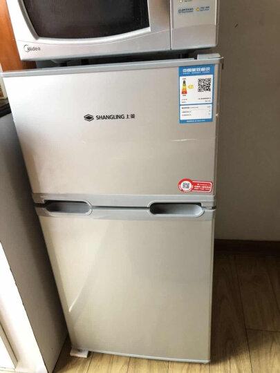 上菱103升双门迷你小型冰箱家用租房节能静音省电冷藏冷冻电冰箱BCD-103C银 闪白银 103升 晒单图