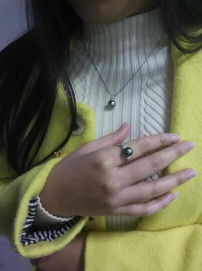 源生珠宝 大溪地黑珍珠戒指 9-10mm珍珠戒指女款送老婆 其他号数请留言 定做 晒单图
