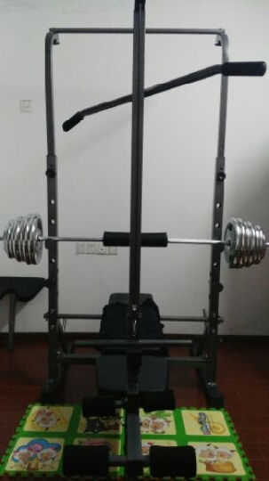 力景特109多功能框式举重床家用杠铃架深蹲卧推综合训练器健身器材套装 举重床配100公斤电镀杠铃 晒单图