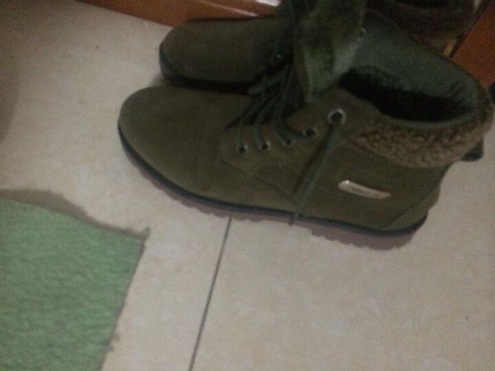 飞克狼雪地靴保暖棉鞋男短筒男防水鞋靴加绒男鞋增高马丁靴子 T2113棕色-棉鞋 41 晒单图