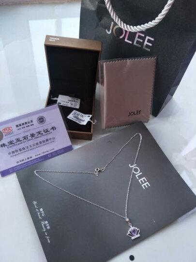 JOLEE 项链 天然紫水晶S925银简约吊坠 新款彩色宝石锁骨链百搭饰品项坠送女生新年礼物 晒单图