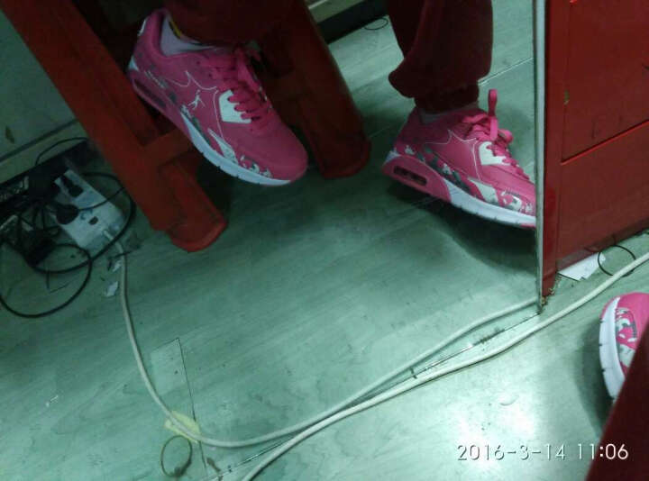 乔丹格兰跑步鞋男鞋 秋季透气阿甘鞋女鞋 飞织网面休闲旅游鞋 情侣运动鞋 鲜梅红女 44 晒单图
