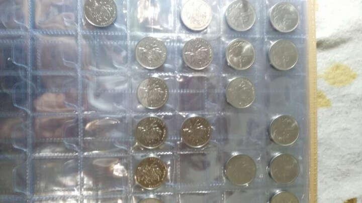 聚优尚 高档纸币硬币混装册 活页型钱币册集币册 高铁纪念币收藏册空册 90枚纸币218枚硬币册(3孔黑底纸币内页) 晒单图