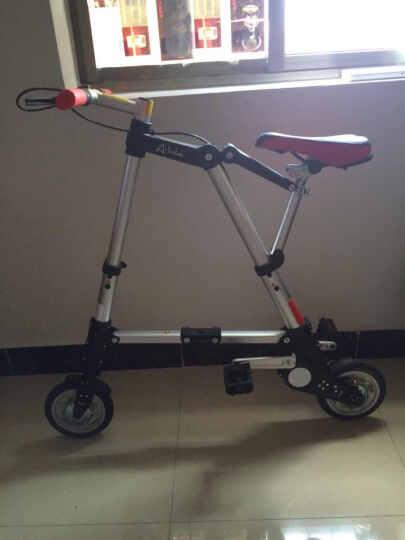 FOLA 折悦 A-bike 8寸折叠自行车铝镁合金材料单速 银灰色 晒单图