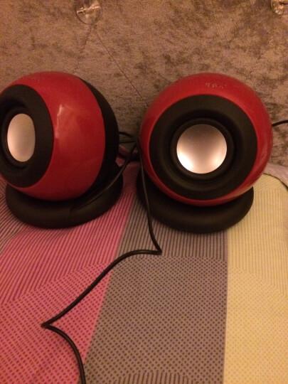 托瓦(TAMO)台式电脑音响低音炮手机迷你笔记本小音箱USB 红色魔法球音箱 晒单图