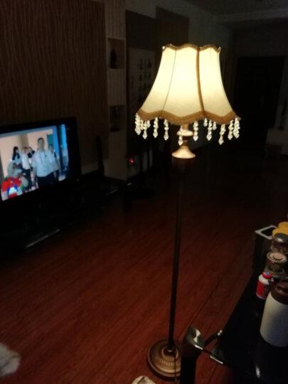 尚美瑞 北欧式田园复古客厅落地灯中式古典地中海书房卧室布艺落地灯台灯立式灯酒店灯 LJ706 脚踏开关/送LED灯泡 晒单图